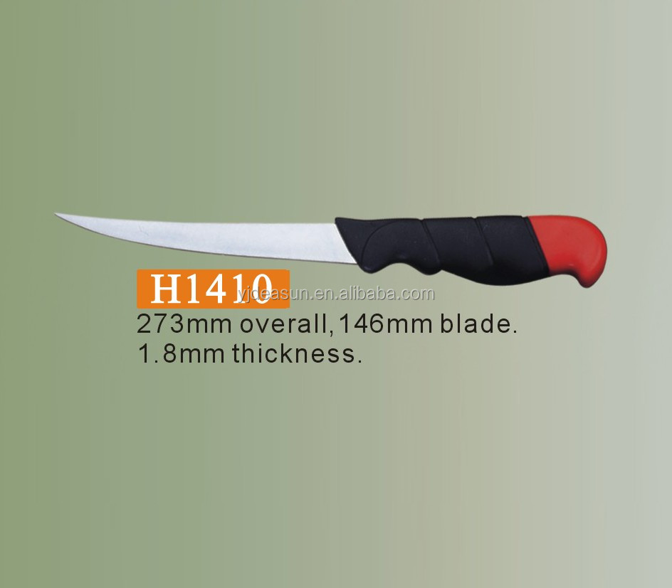 Fish safety knife with scabbard