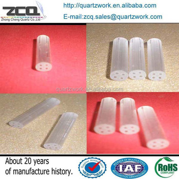 Multi-Holes Quartz Glass Capillary tube/ pipe OD 2.5*ID0.35