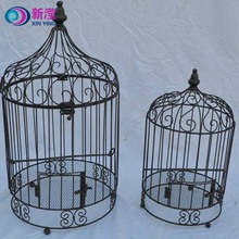 Handmade garden decor round victorian Style vintage set of 2 bird cages sale,decorative metal bird cages,ornamental cages bird