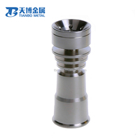 Wholesale 25 x 18mm Full Adjustable Titanium Nail Gr2 smoking accessories glass