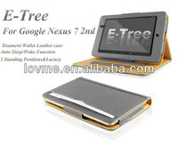tan leather case for google nexus 7 2nd