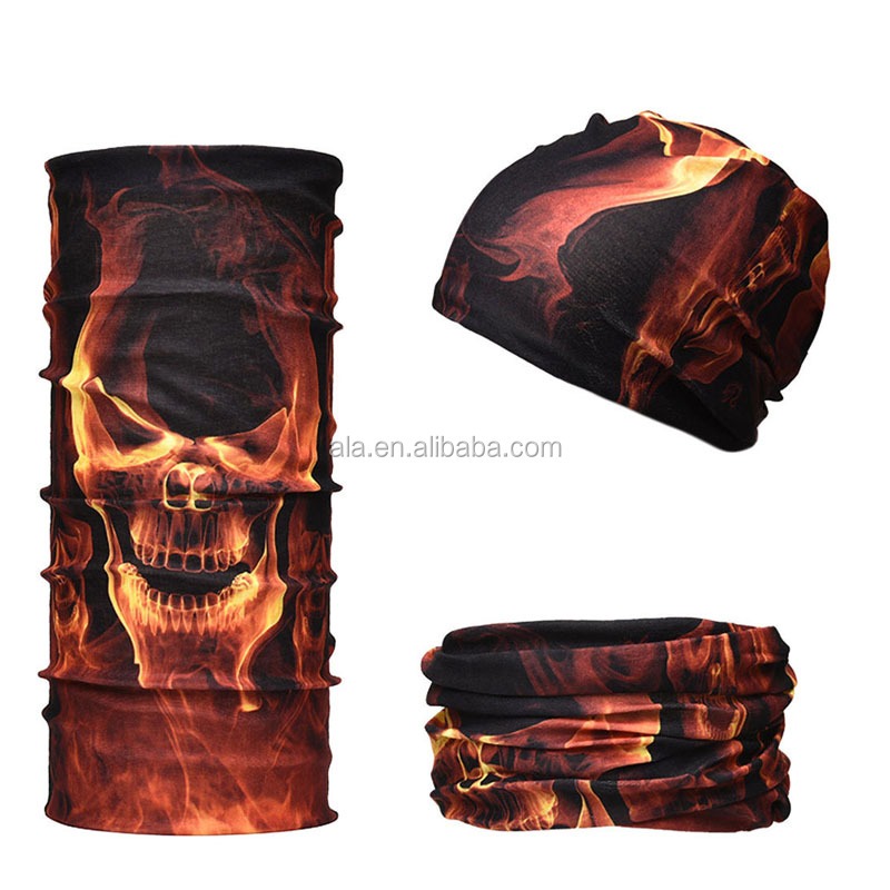 2017 Hot Sales seamless Skull tube Bandana Bike Motorcycle Helmet Neck Face mask Shipping by DHL