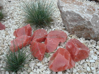 non transparent red glass rocks for landscaping