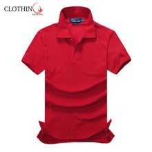 New model oem promotional cotton couple polo shirt short sleeve