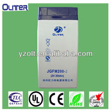 2v 200ah solar long life nano gel battery