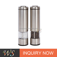 WS-EPM14 Adjustable Electric Stainless Steel Salt and Pepper Mill set