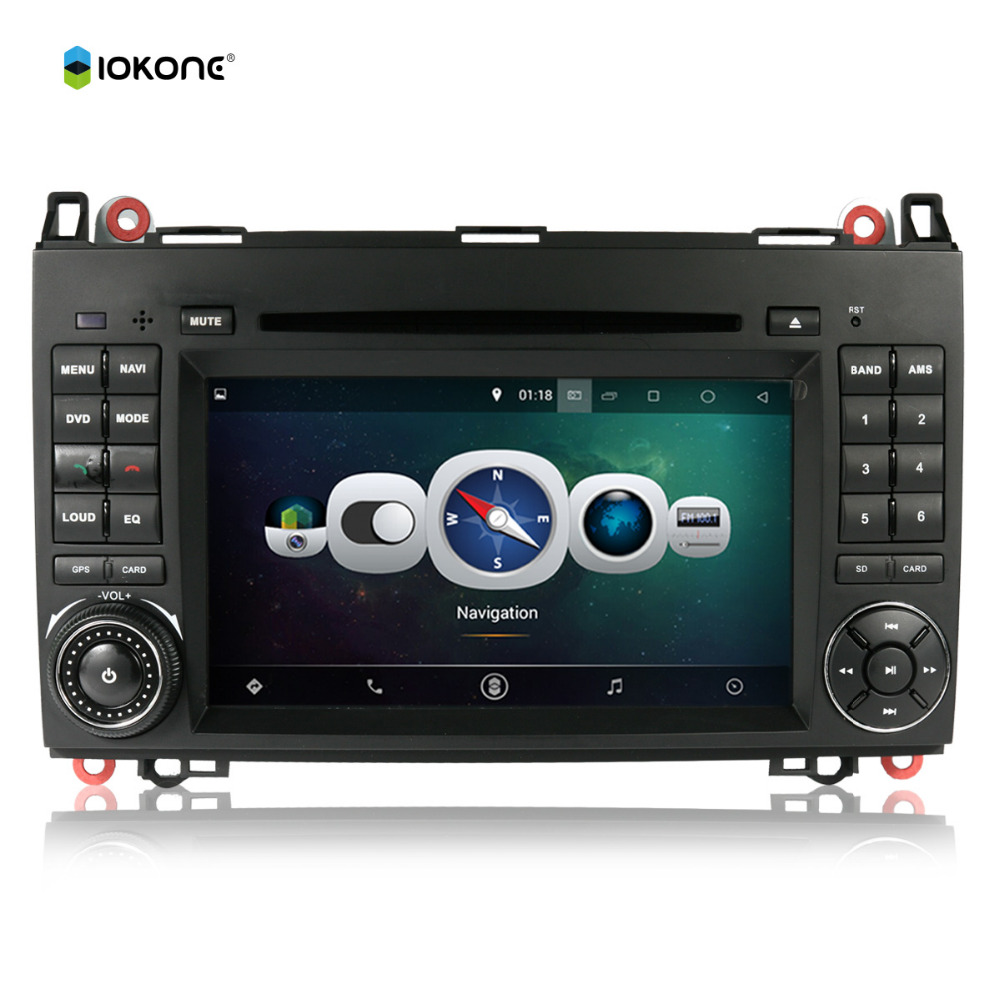 Android 4.4 Car DVD Player Touch Screen GPS Navigation 3G iPod Audio for Benz A-class W169 / B-class W245/Sprinter W906