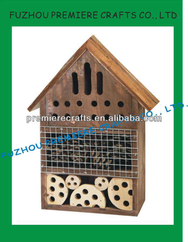 Hot Sale Butterfuly Bee Ladybug Hotel Wooden Insect House Garden Pet Products Supplies