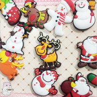 Cute Christmas fridge magnets Silicon Gel whiteboard Magnets sticker X-max gift home decor