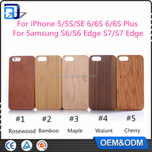 Hot Selling natural wood bamboo + PC hard back cover hybrid case for iphone 5 5s se wooden case cover china supplier