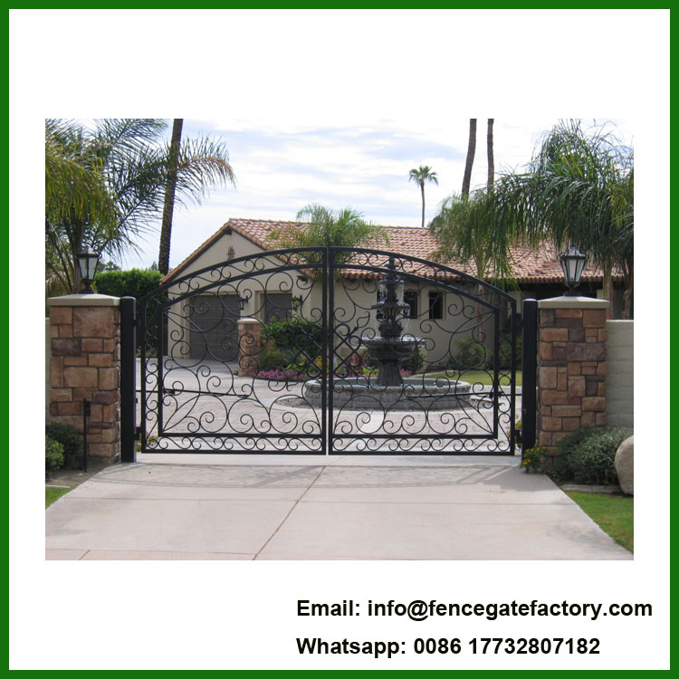 Used Exteriormain House Iron Gate Design