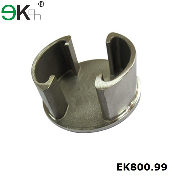 Stainless steel round post slot tube stair handrail end cap