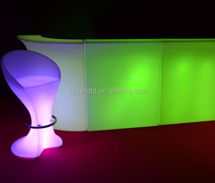 Night Club RGB 16 Colors Chargeable Lighting LED Bar Stools