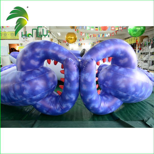 Decorative Floating Giant Purple Air Crabs Design / Custom Shaped Model Inflatable Crab for Display
