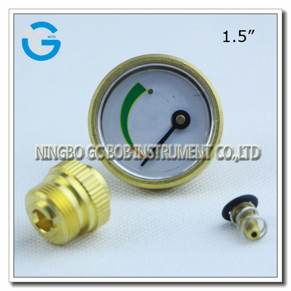 High quality 1.5 inch brass back connection propane tank gauge meter