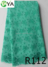 nigeria fabric organza meterial lace for evening long dresses