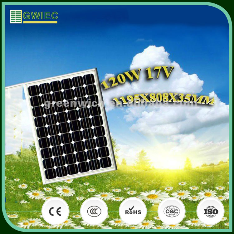 GWIEC Latest Technology The Monocrystalline High Efficiency Flexible Solar Power Panel 120W 17V