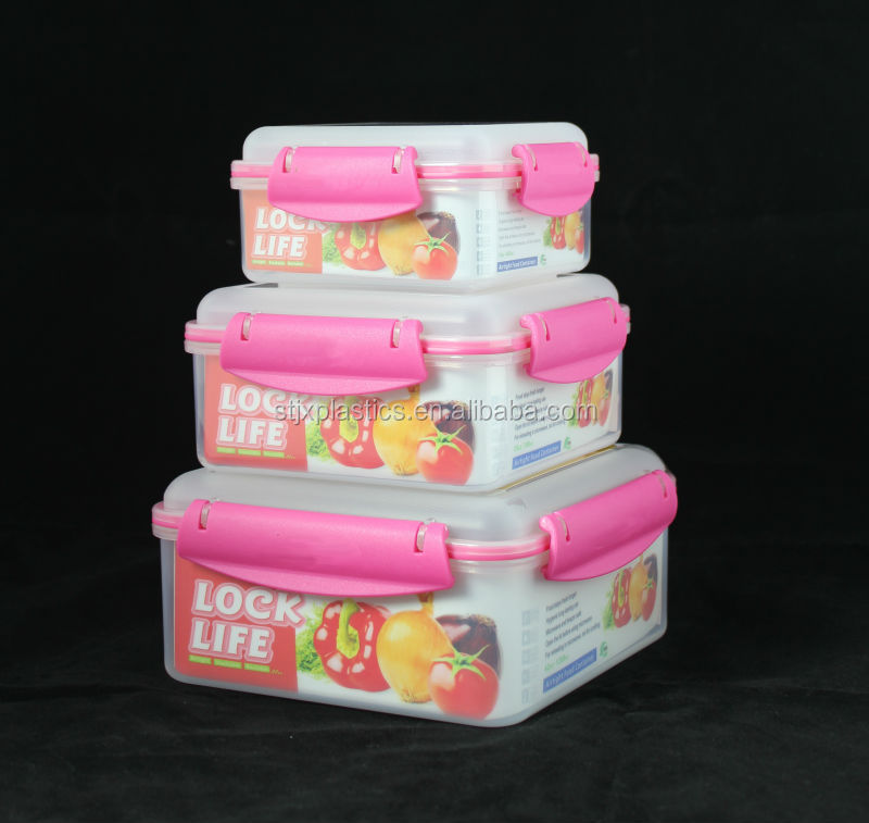 Large food plastic container all size