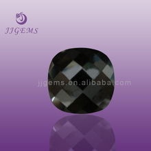 Black flat square faceted cz jewelry gems