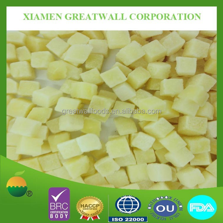 High quality IQF frozen potato cube 10x10mm
