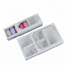 5 and 10 sheets Macarons paper packing box with clear window