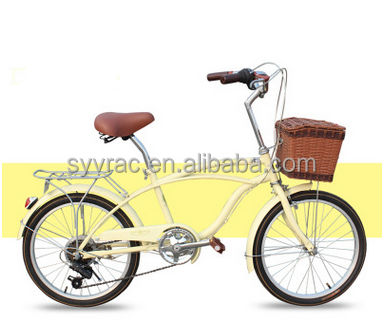 20 inch adult girls boys children yellow beach cruiser bike