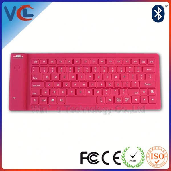Factory bluetooth silicon keyboard rubber folding keyboard for laptop