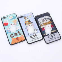 Alibaba best sellers with anti stress finger pinch lovely squishy toy customized uv printing tpu phone case for iphone 7 plus