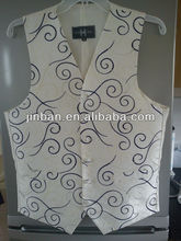 Mens purple scroll polyester waistcoat new design