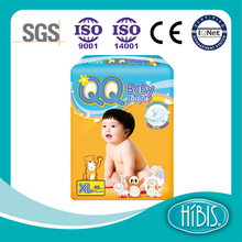 Disposable HIBIS QQ super absorbent polymer Baby Diapers