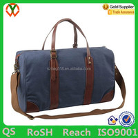Canvas Leather Trim Travel Tote Duffel