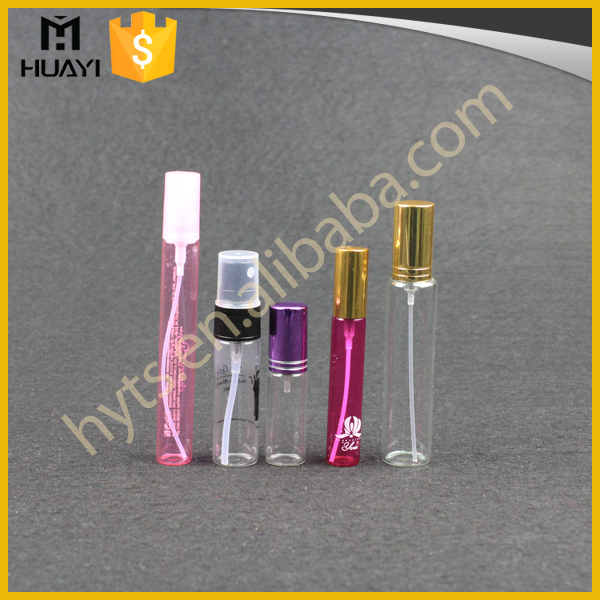 1ml 2ml 5ml 8ml 10ml Wholesale Small Tubular Tube Different Size Empty Mini Perfume Essential Oil Glass Vial For Perfume