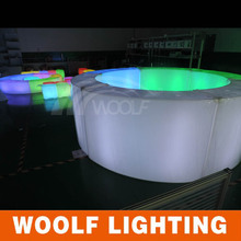 led bettery power led curved bar tables