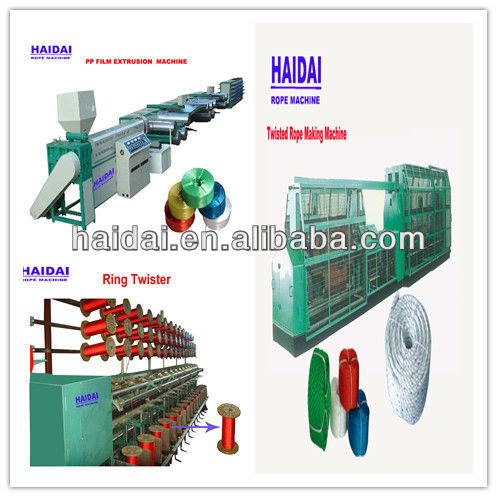 plastic film/splitfilm extruder+ring twister+ rope making Machine Production Line