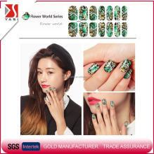 2016 wholesale popular fashion style leopard print Christmas nail sticker eco friendly water transfer printing nail decals