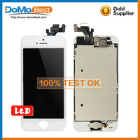 Wholesale front assembly lcd display for iphone 5g touch screen digitizer for iPhone 5 White