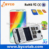 China manufacturer Sales promotion 5.0 inch Dual Core gps wifi 3G three sim cards smart phone