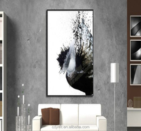 Newest Style Modern Custom Sale Abstract Oil Painting Black White For Living Room
