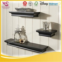 Wholeslae hot sale China handmade custom home decorative wooden Wall Shelf Set