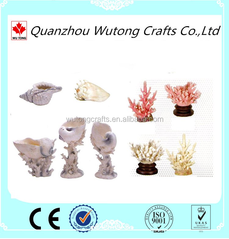 Artificial Fountain Display Resin Coral with Sea Shell Products