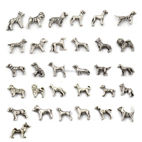 Wholesale 5MM-8MM Antique Silver Different Breeds Dog Floating Charms For Memory Locket