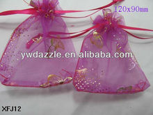 2013 fashion organza bags butterfly for gifts packing
