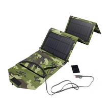 6V 14W Solar Panel Charger Dual Output Folding Foldable Solar Charger For Mobile Phone iPad Tablet