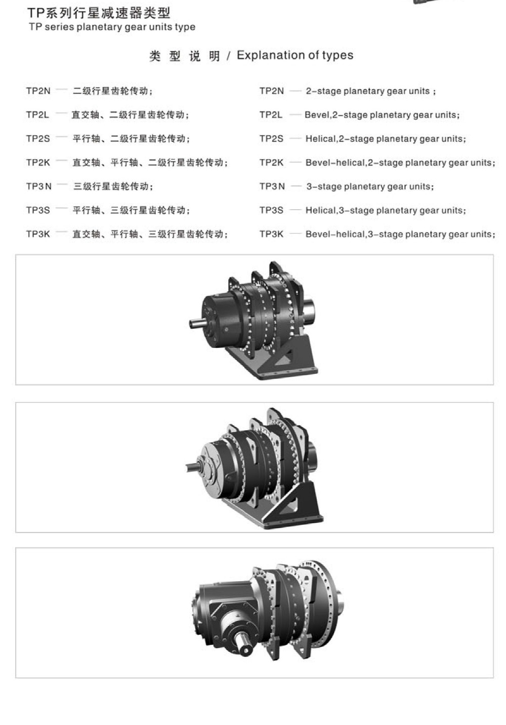 P series planetary Gear units reducer