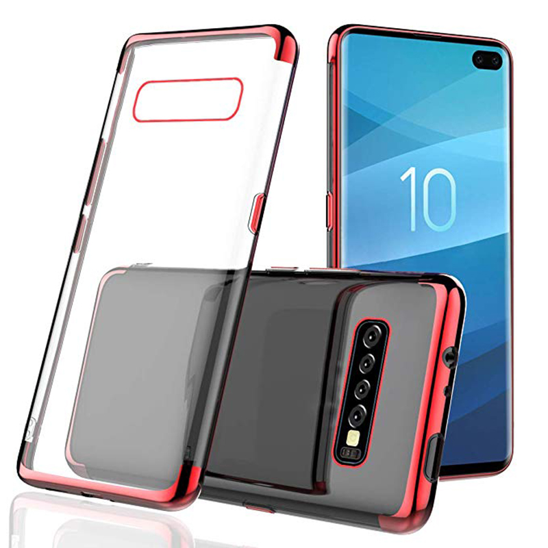 Clear Electroplate TPU Case For Samsung S10 plus Case Transparent For Samsung galaxy S10 plus Cover Cell Phone <strong>Accessories</strong>