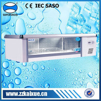 High-efficiency and low-noise countertop display refrigerator