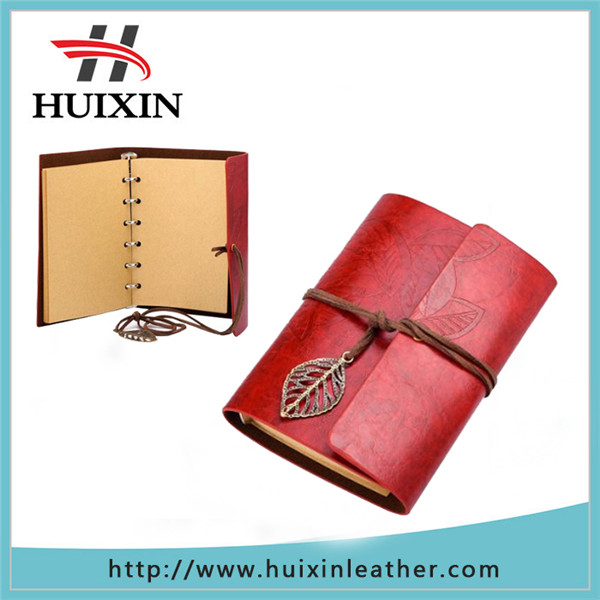 Free sample hotsale korea Vintage Style travel notebook crazy horse leather notebook