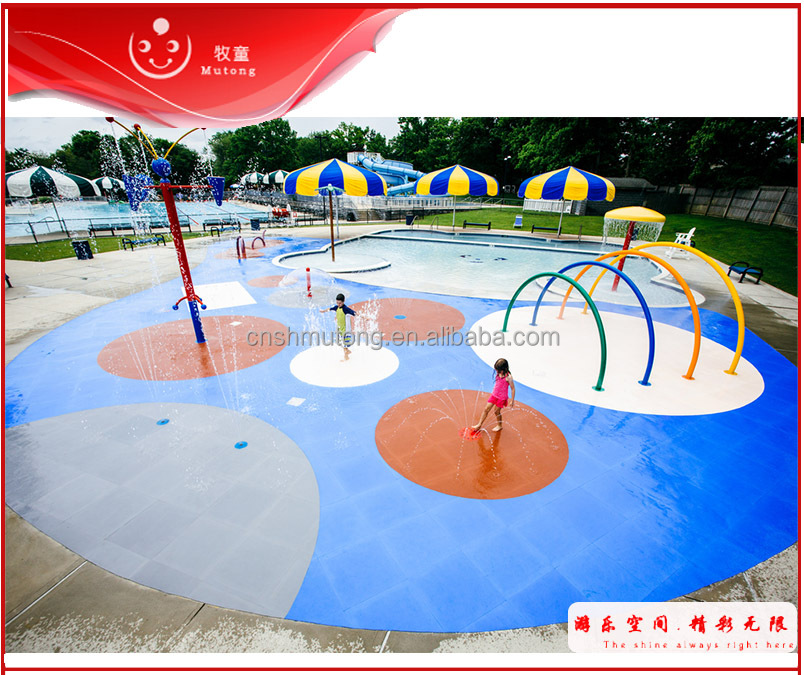 summer community swimming pool water fall for spray park on sale