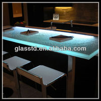 40mm commercial light up unique acrylic led bar tables