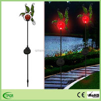 Landscape lamps item type solar powered hummingbird garden stake light